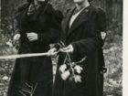 Helena Pakoszewska (z prawej) podczas nauki w szkole