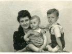 Janina Gniewek z synami - Jerzym i Ryszardem