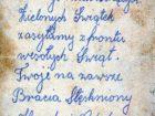 Karta z życzeniami do braci dla Marii Kot (z d. Streit)