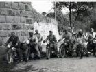 Uczestnicy wycieczki motocyklowej na Węgry. 1939 rok