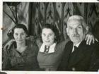 Zygmunt Pakoszewski z córką Heleną i żoną Stanisławą